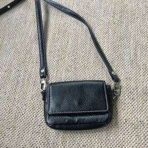 Mini, black leather, cross-body bag, NWOT